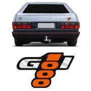 Adesivo Gol 1000 Emblema Traseiro Laranja e Preto Volkswagen