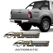Adesivos 4x4 Turbo Intercooler Hilux 2005/2008 + Automatic