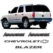 Adesivos Blazer Advantage 2007 Emblema Chevrolet Resinados