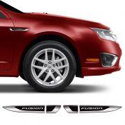 Aplique Lateral Ford Fusion Decorativo Emblema Resinado Par