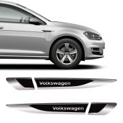 Aplique Lateral Volkswagen Gol Polo Up! Fox Emblema Cromado
