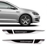 Aplique Lateral Volkswagen Gol Polo Up! Fox Emblema Cromado