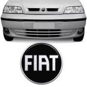 Emblema Dianteiro Palio Siena 2001/2003 Fiat Black Piano
