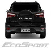 Emblema Ecosport Resinado Adesivo Estepe Refletivo Prata