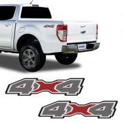 Emblema Lateral 4x4 Ford Ranger 2020 Adesivo Modelo Original