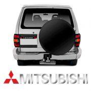 Emblema Mitsubishi Pajero Full Traseiro Cromado Resinado