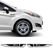 Emblema Resinado New Fiesta Hatch/Sedan Aplique Lateral Par