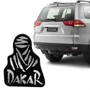 Emblema Resinado Pajero Dakar Preto Adesivo Modelo Original