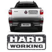 Emblema Strada Hard Working 2018/2019 Adesivo Modelo Original