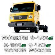 Emblemas 9-150e Worker Adesivo Volkswagen Caminhão Cromado