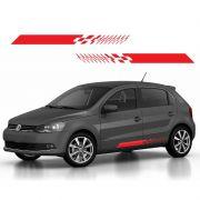 Faixa Decorativa Universal Carros Hatch Adesivo Vermelho