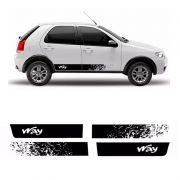 Faixa Lateral Fiat Palio Way 2014/ Adesivo Preto Decorado