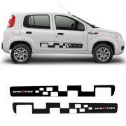 Faixa Lateral Fiat Uno Sporting Adesivo Preto Decorativo