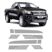 Faixa Lateral Ranger Cs Sport Xls 2014/2016 2P Adesivo Prata