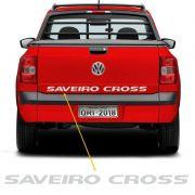 Faixa Tampa Traseira Saveiro Cross 2011/2013 Adesivo Prata