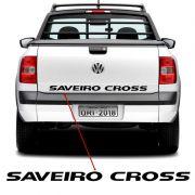 Faixa Tampa Traseira Saveiro Cross 2011/2013 Adesivo Preto