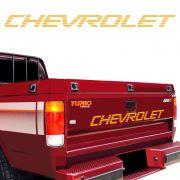 Faixa Traseira Chevrolet D20 Adesivo Dourado Modelo Original
