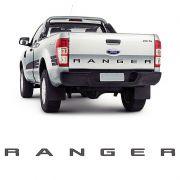 Faixa Traseira Ford Ranger 2013/2019 Adesivo Grafite e Preto