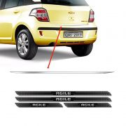 Friso Porta-Malas Chevrolet Agile + Kit Soleira Protetora