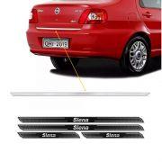 Friso Porta-Malas Fiat Siena 01/09 + Kit Soleira Protetora