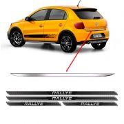 Friso Porta-Malas Gol G6 Rallye + Kit Soleira Protetora