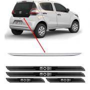 Friso Porta-Malas Resinado Fiat Mobi + Kit Soleira Protetora