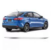 Friso Traseira Porta Malas Cromado Resinado Focus Sedan 15/