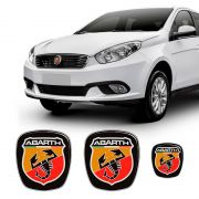 Kit 3 Adesivos Emblema Fiat Abarth Grand Siena
