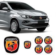 Kit 6 Adesivos Emblemas Abarth Fiat Cronos