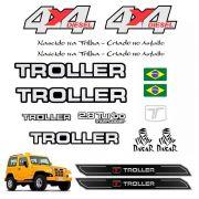 Kit Adesivo Capô Cromado Troller 4x4 2005 + Soleira Da Porta
