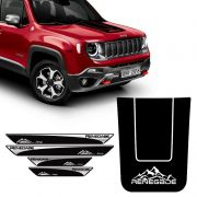 Kit Adesivo Capô Jeep Renegade Montanha + Soleira Protetora