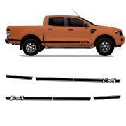 Kit Adesivo Ford Ranger FX4 Faixa Lateral Preta Acessório