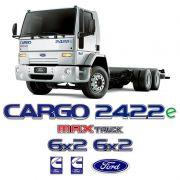 Kit Adesivos Cargo 2422e Max Truck 6x2 Emblema Caminhão Ford
