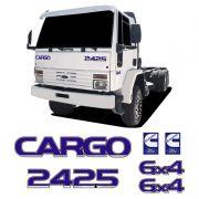 Kit Adesivos Cargo 2425 6x4 Cummins Emblemas Caminhão Ford