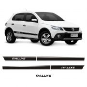 Kit Adesivos Faixas Laterais Preta Gol Rallye G5 2011