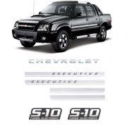 Kit Adesivos Faixas S10 Executive Preta Turbo Eletronic Gm