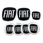 Kit Adesivos Fiat Black Diant Tras Vol Calotas Punto 08/16