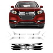 Kit Adesivos Grade Frontal Hr-v + Soleira Com Black Over