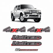 Kit Adesivos Ranger 2010/2012 Limited 4x4 3.0 Powerstroke
