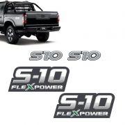 Kit Adesivos S10 Santo Antônio Resinados + Flex Power Verde