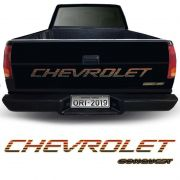 Kit Adesivos Traseiros Silverado Conquest 99 Faixa Chevrolet