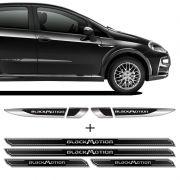 Kit Aplique Lateral Punto Blackmotion + Soleira Protetora