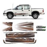 Kit de Adesivo Faixa Lateral S10 Rodeio 2011 4x4 Turbo Verde