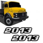 Kit Emblema 2013 Mercedes Benz Antigo Caminhão Resinado
