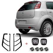 Kit Emblema Punto Black Completo + Adesivo Lanterna Traseira