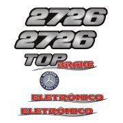 Kit Emblemas Mercedes Benz 2726 Eletrônico Adesivo Resinado