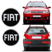 Kit Emblemas Palio Fire Weekend 2004/08 Fiat Black Resinado