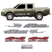 Kit Faixa Attack Frontier 02/08 4x4 Off Road 2.8 Tdi Cinza