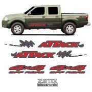 Kit Faixa Attack Frontier 02/08 4x4 Off Road 2.8Tdi Vermelho