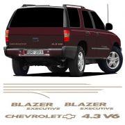 Kit Faixa Blazer Executive 2003/2006 4.3 V6 Adesivo Champanhe